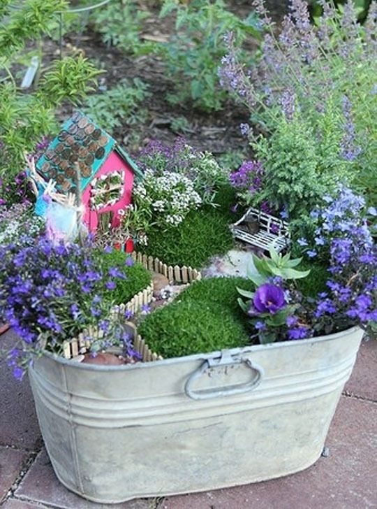 Do you have a fairy garden in your yard? If you haven't considered it before, you might be swayed by looking at these inspirational gardens we've found around the interwebs. Which one is your favorite?