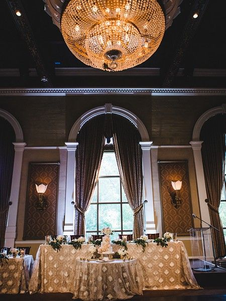 The elegance of the Liberty Grand, along with a chic palette of neutrals and metallics makes for not only a stylish soiree. See full gallery here.