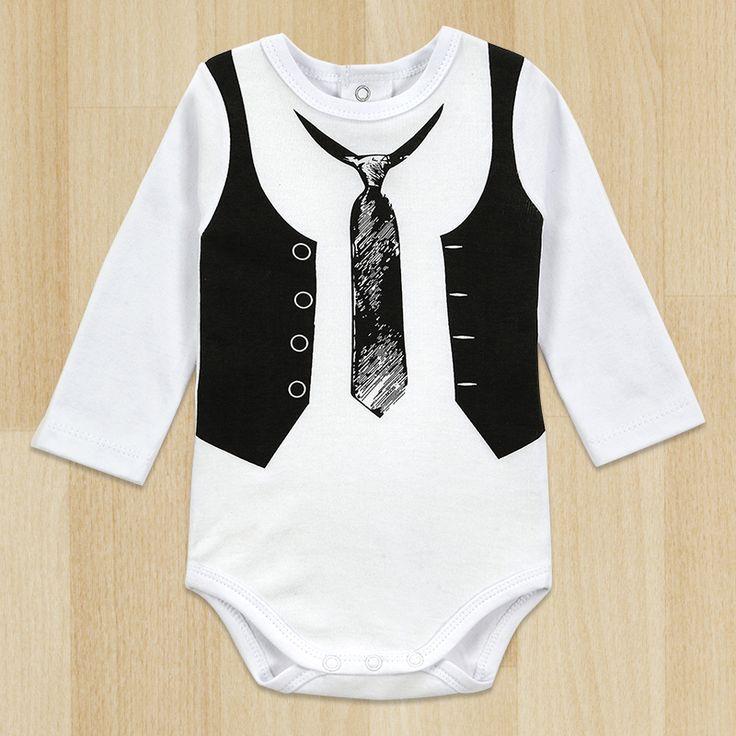 トップ品質小売オールインワン赤ちゃん男の子紳士ロンパース白長袖ベビー冬オーバー オール next赤ちゃん新生児服ボディ