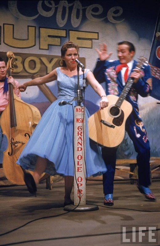 June Carter, Nashville, 1956 (Apparently, the 50's were a lot more colorful than we were led to believe.)