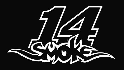 Tony Stewart 14 Logo | Smoke 14 Tony Stewart Nascar Die Cut Vinyl Decal Sticker - Texas Die ...