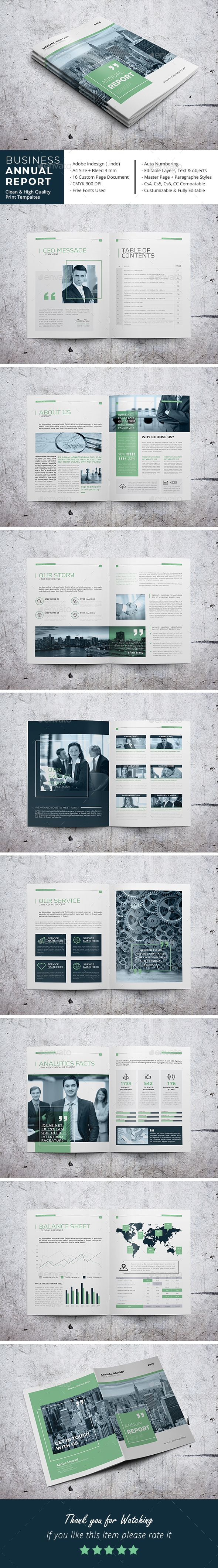 Business Annual Report Brochure Template InDesign INDD