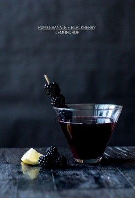 pomegranate and blackberry lemondrop