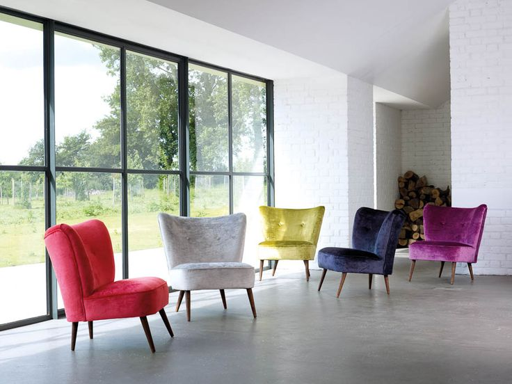 Good Our Lola 1950s Vintage Inspired Cocktail Chairs Used To Launch Villa Novas  New Heavenly Velvet Fabric