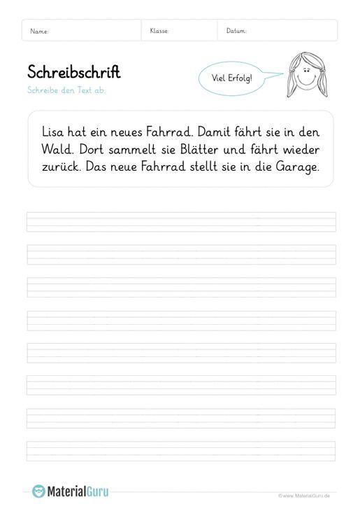 arbeitsblatt schreibschrift texte abschreiben 04 schule schreibschrift schule. Black Bedroom Furniture Sets. Home Design Ideas