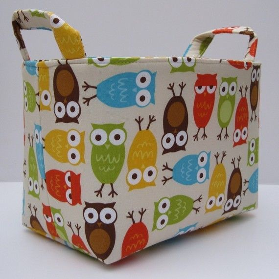 Fabric Storage Organizer Bin PDF Sewing by BaffinBags on Etsy
