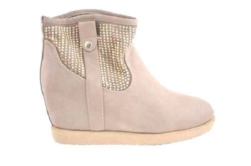 New Ladies Womens  Winter Wedge Casual Round Warm Slip On Ankle Boots Size3-7.5