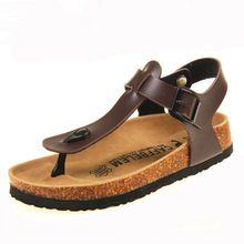 Nuevos 2016 hombres zapatos sandalias de corcho hombres sandalias de playa sandalias para hombre verano t-correa zapatos antideslizantes diapositivas fresco más tamaño 39-43(China (Mainland))