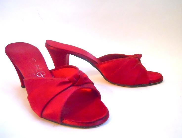 60 best boudoir slipper images on pinterest slippers - Ladies bedroom slippers with heel ...