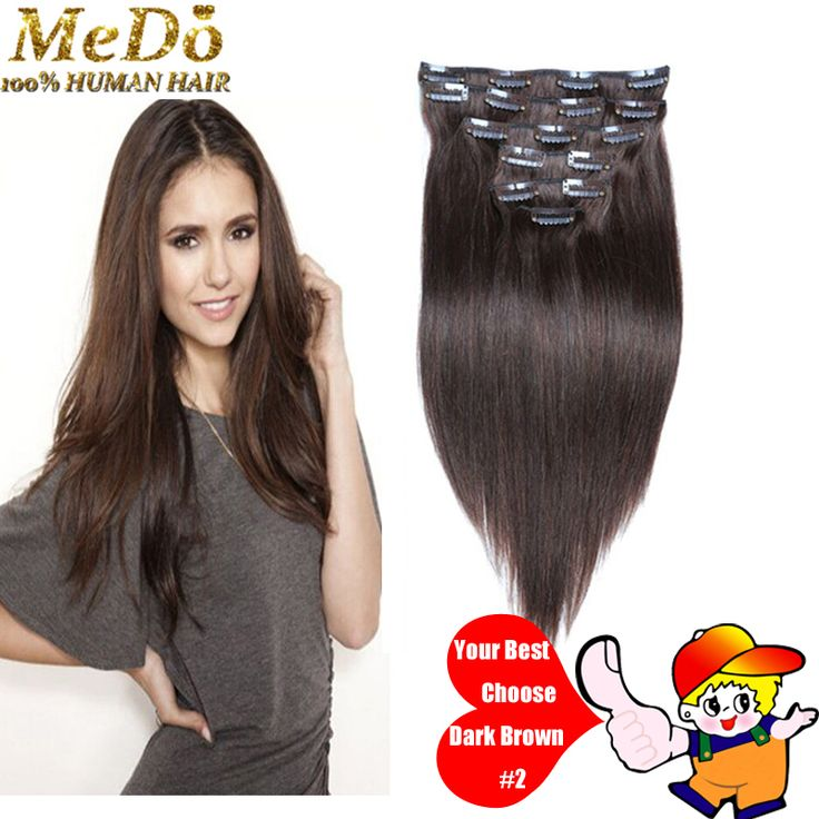 125 best full head set images on pinterest hair black and braids 7a 100 brazilian virgin remy clip in hair extensions 710 pcsset pmusecretfo Choice Image