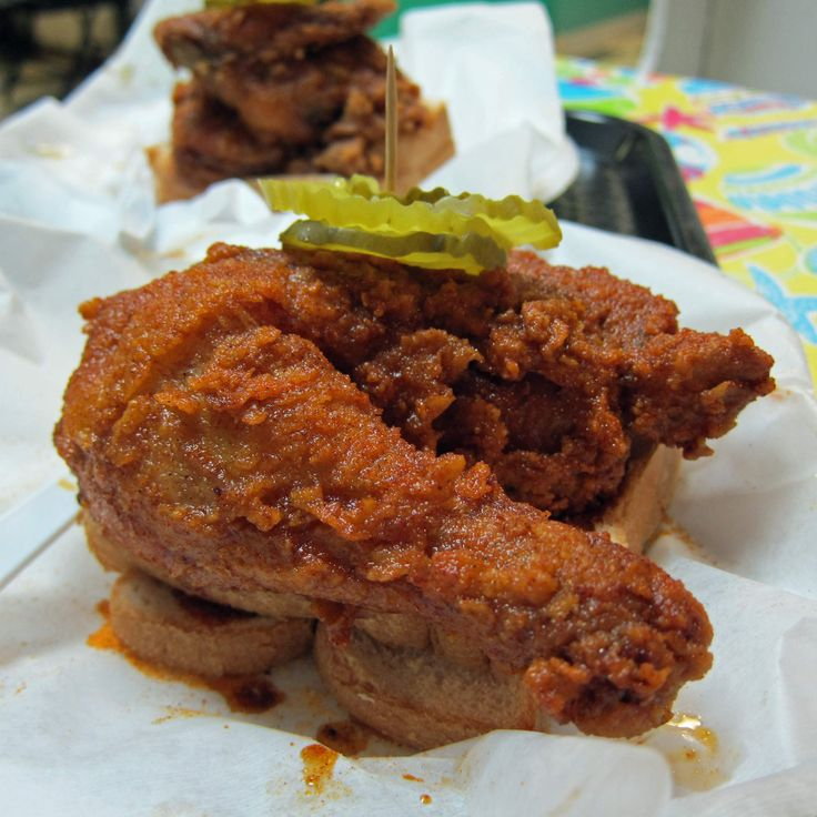 """NASHVIILLE, TN, Princes Chicken Shack: Prince's, on the North side of Nashville, just happens to be the best damn spicy fried chicken in America. If you can spare a couple of hours to deal with the line, hit up Andre Prince's ode to the spicy side of the bird and get a whole chicken, some extra pickles, and bread. We like it """"hot,"""""""