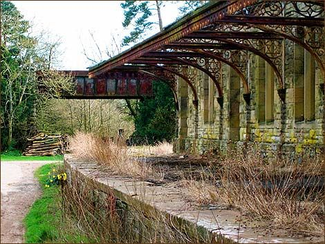 Beautiful Old Abandoned Train Station on the old 'Cornhill Line'.  This stretch of single track in Northumberland, England ran 35.5 miles connecting the farming communities to the town of Alnwick, England