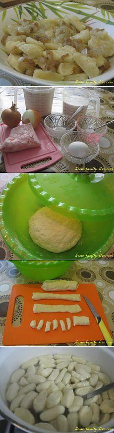 Галушки - пошаговый рецепт с подробными фотоКулинарные рецепты
