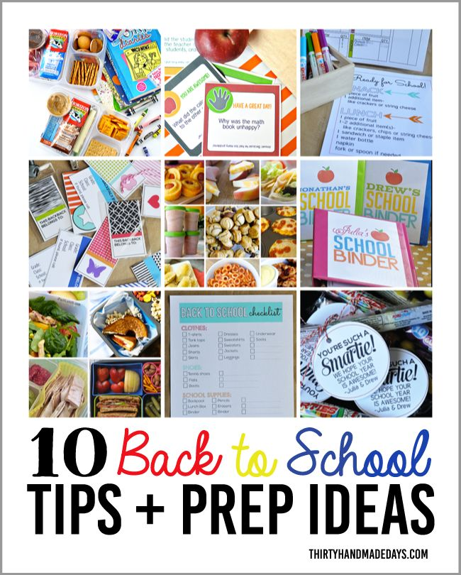 10 Back to School Tips & Prep Ideas from www.thirtyhandmadedays.com | Getting ready to go back to school can be hard but these ideas will help!