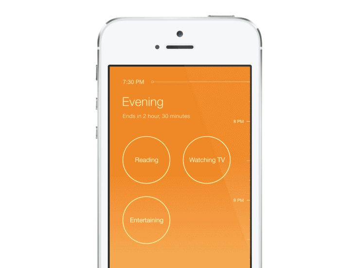 Home automation - modes re-imagined - scheduled actions - UI - iPhone