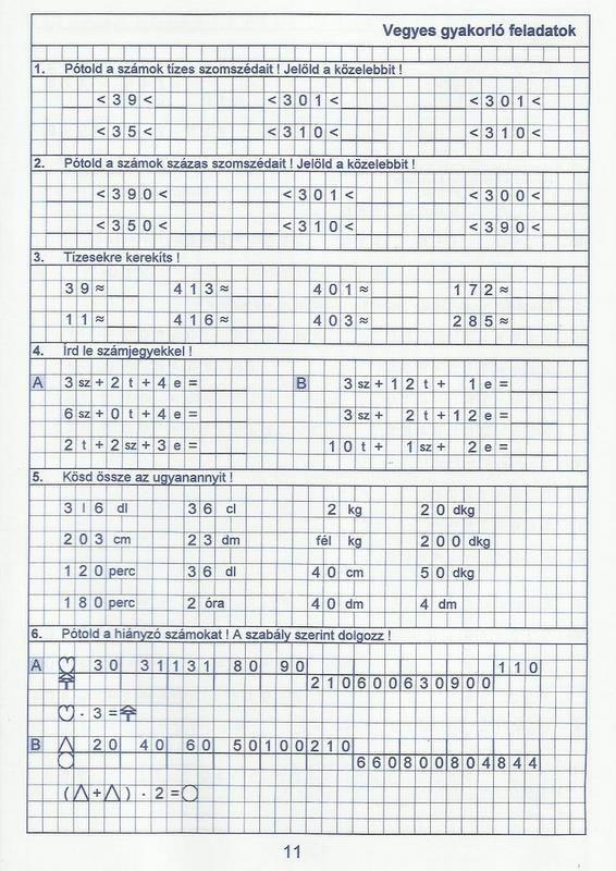 Gyere mesélj! - Képgaléria - Sulis feladat lapok (alsó tagozat) - Kiszámoló 4. osztály