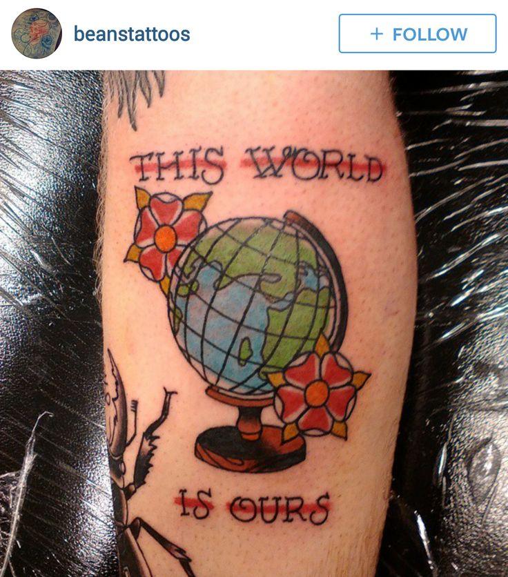 142 best images about globe world tattoos on pinterest. Black Bedroom Furniture Sets. Home Design Ideas