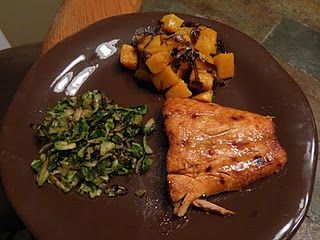 Hoisin Glazed Salmon with Caramelized Brussels Sprouts and Balsamic ...