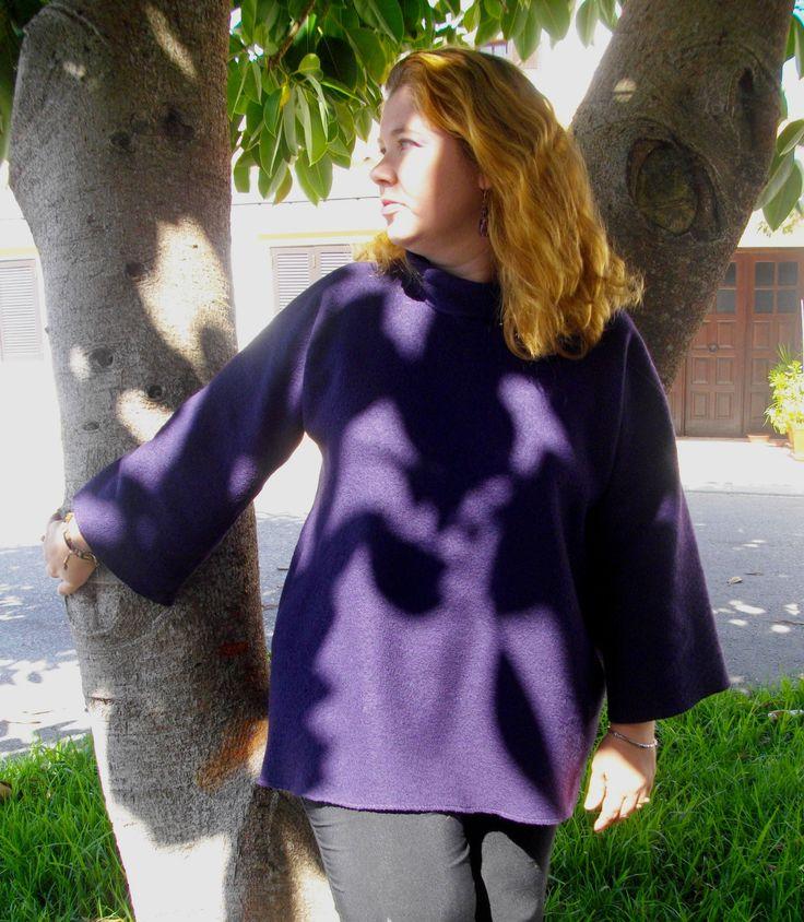 O mesmo poncho vestido pela Sophie T44/ a 46