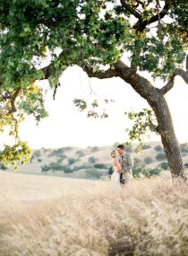 Love the scenery for these Santa Ynez wedding or engagement photos.