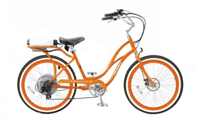Step Thru Orange and Orange rims with White Wall tire upgrade