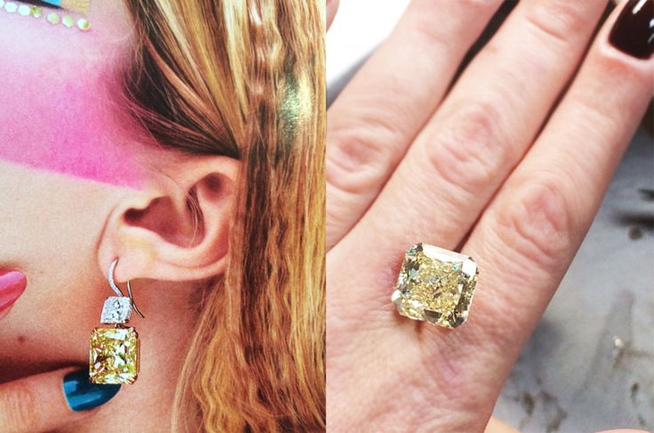 MAKING OF SHINY DREAMS! Earrings from the Haute Joiallerie Danelian  collection: fancy yellow diamonds of radiant cut clarity vs1, 12cts each.