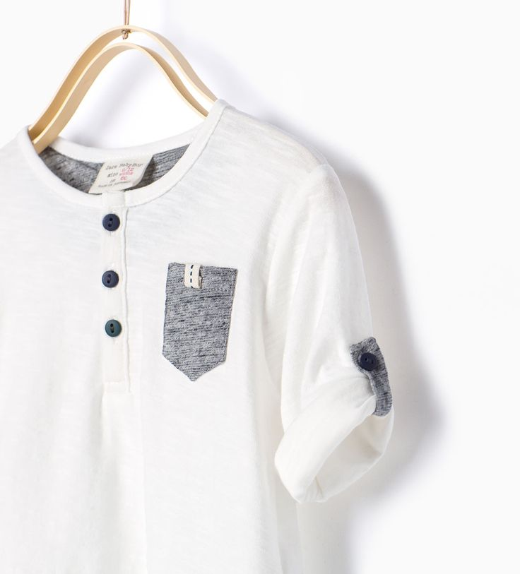 ZARA - COLLECTION AW15 - T-shirt with roll-up sleeves