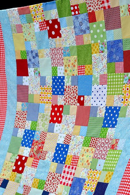 A scrap quilt made from the scraps of fabric used in quilts during that year.  This quilter has a scrap quilt for many years! :)