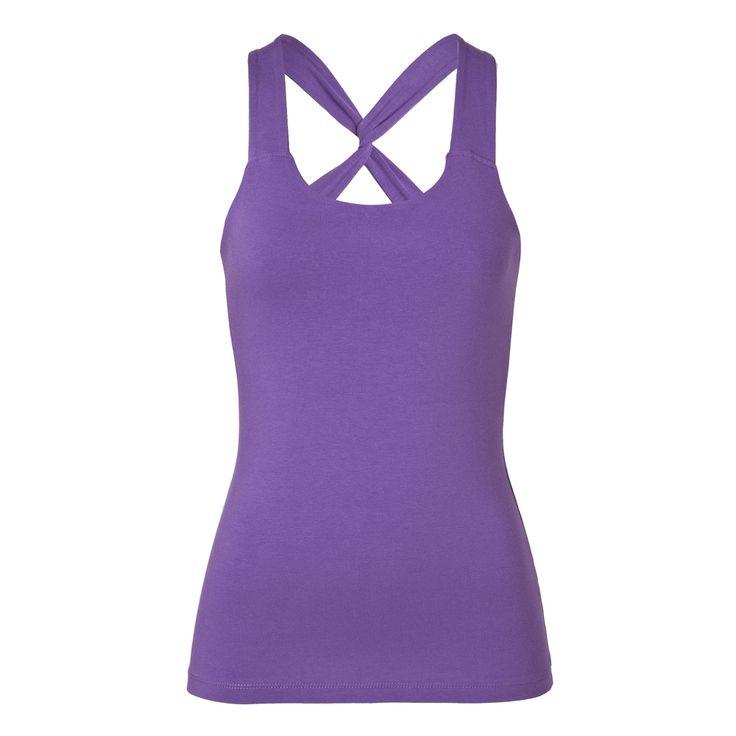 Mandala, Sling Back Yoga Top: Sling Back Yoga Top z pohodlné strečové bio bavlny je slušivý, ženský... Má integrovanou podprsenku, která skvěle padne a ramínka jsou na zádech rafinovaně zkřížena. Top příjemně obepíná tělo, takže o něm při cvičení nebudete ani vědět.