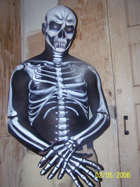 Skeleton Body Paint. Amazing SPFX makeup