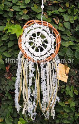 Atrapasueños Crochet blanco - Pieza Unica - www.tirnanogatrapas.com.ar