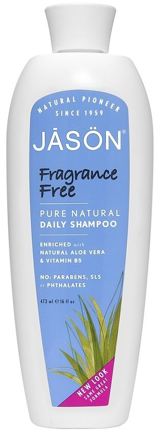 Jason Fragrance Free Shampoo SLS fragrance free #shampoo is an ideal daily Shampoo which gently cleanses without stripping away essential moisture. Chamomile (Matricaria) & Vitamin B5 soothe & hydrate while Sage Leaf Extract adds shine & manageability. Soothed & balanced, your hair feels silky soft with a healthy lustre. Safe for colour-treated hair & sensitive scalps. #Eczema #SensitiveScalp #SensitiveSkin #FragranceFree #Unscented by #Jason