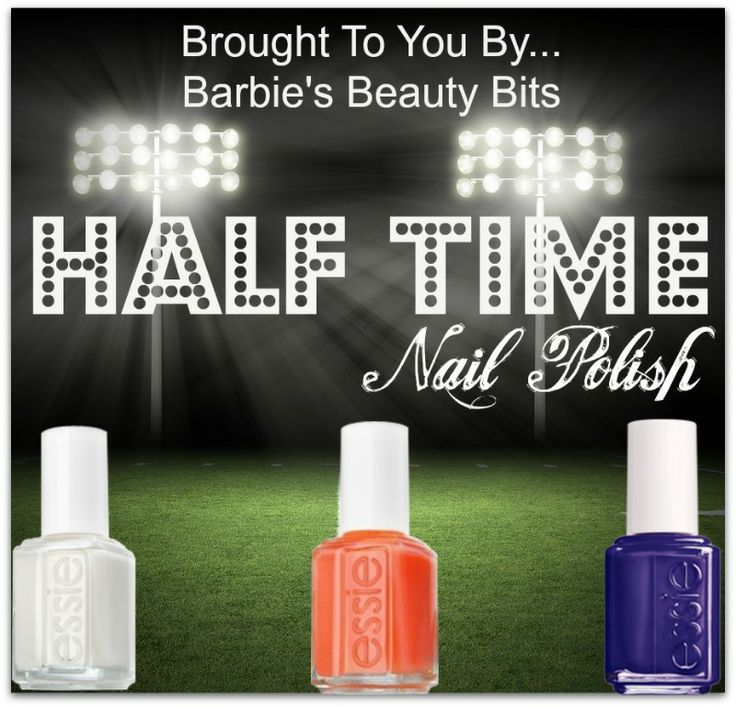 Barbie's Beauty Bits, Big Game Day, Makeup & Nailpolish Looks! Are You Ready For Some Nailpolish? Sport Your Team Colors This Sunday, With These Great Makeup & Nail Polish Looks! @barbiesbeautybits