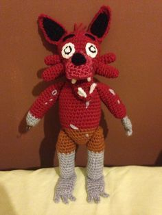 Five Nights at Freddy's Foxy (with pattern!) by CrochetGamer on DeviantArt