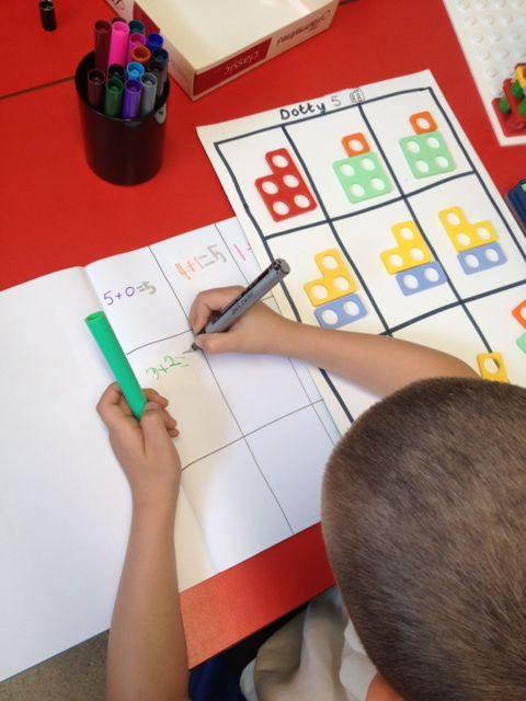 Playing Dotty 5 and then making the connections with the written calculation.
