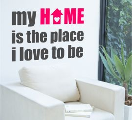 Sticker decorativ My home