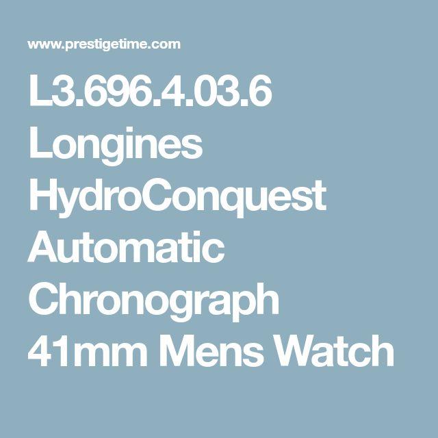 L3.696.4.03.6 Longines HydroConquest Automatic Chronograph 41mm Mens Watch