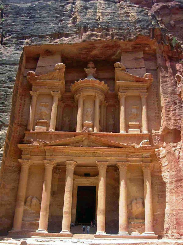 The Nabatean city of Petra  country : Jordania  place : south-west of the country, near Israel