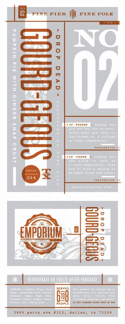 Fine pies label design