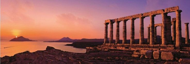 Panoramatické puzzle HEYE 2000 dílků - Poseidonův chrám, Řecko