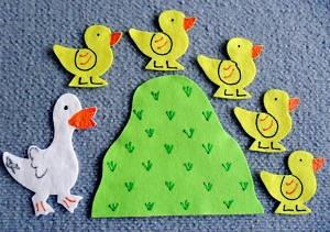 5 little ducks flannel board set