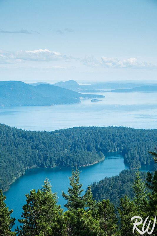 View from Mount Constitution, Orcas Island, Washington
