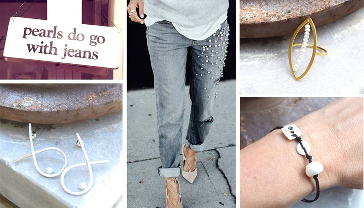 Pearls+do+go+with+jeans!