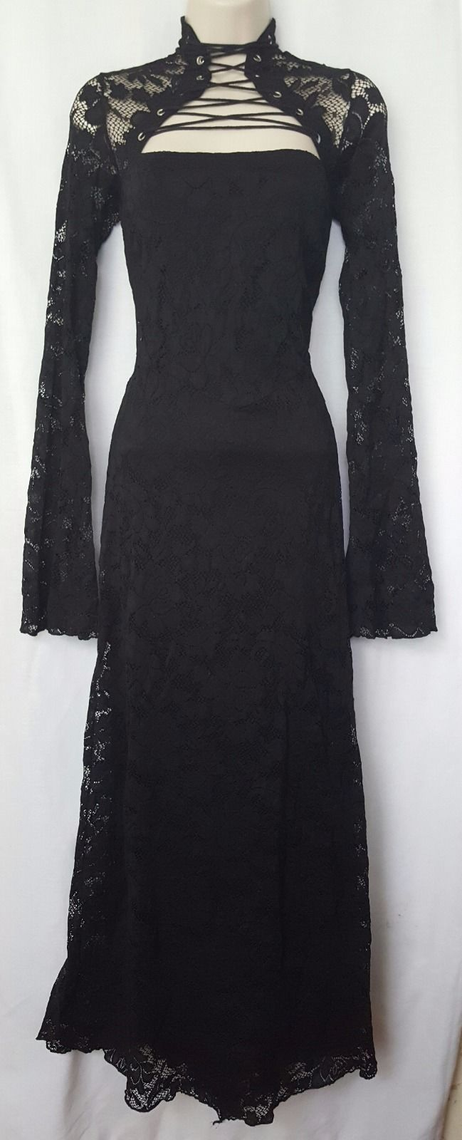 LIP SERVICE (Hot Topic) In Memory Of Disintegrated Lace long dress #59-91-HT