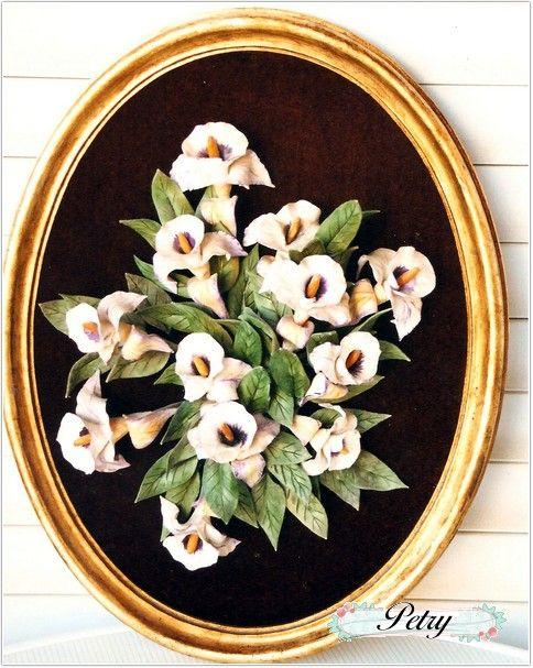 Cuadro flores maicena. www.petry.es