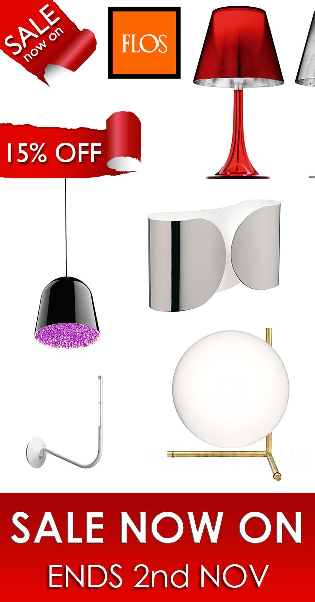 From the 18th of Oct to the 2nd Nov all FLOS products are reduced by 15%!! Don't miss this great offer!