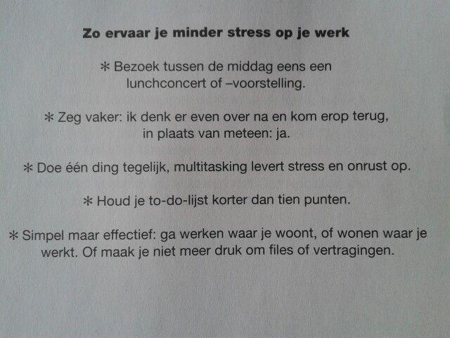 Minder stress op het werk