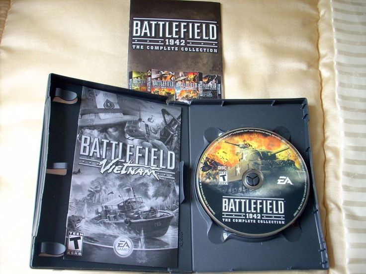 Battlefield 1942 The Complete Collection PC CD-ROM Game 2005 8 Discs