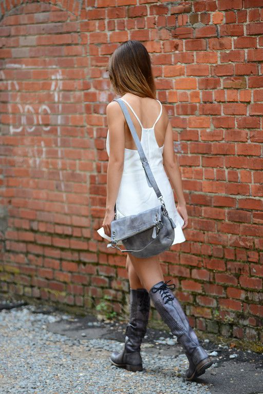 The MANCHESTER tall boot paired with the TAHITI cross body.  Courtesy of Duck and Dressing