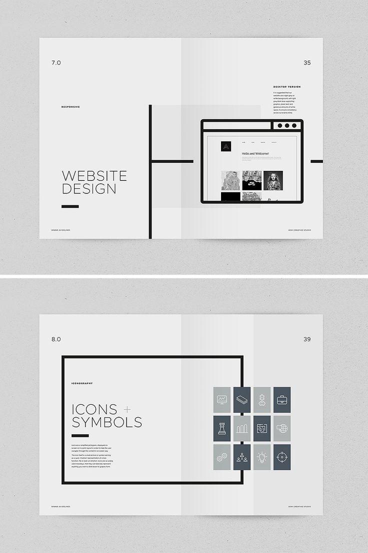 Brand Book – Ashi La plantilla de ASHI Brand Book / Guidelines es una inspiración mínima …   – design